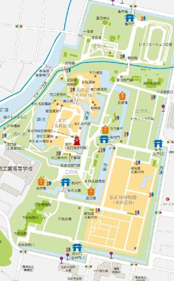 弘前城マップ