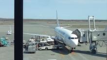 14:21 この飛行機で広島へ