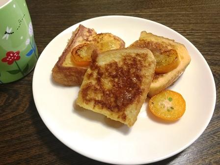 金柑フレンチトースト