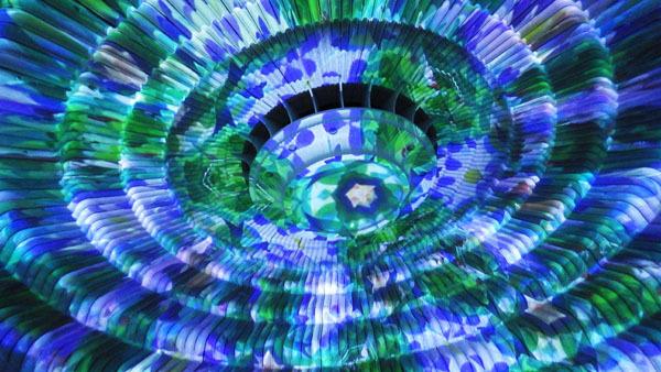青と緑の万華鏡