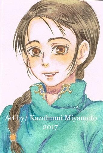 「天星神話」のヒロイン・アリオンゲレルの姉みたいな妹、ツェツェグ。基本いつでも明るい笑顔です。