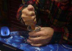 錠剤つぶし~ガラスの器と摺り子木