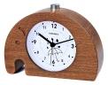 FiBiSonic 目覚まし時計 アナログ 大音量 置き時計 連続秒針 音無し アラーム スヌーズ 照明ライト付き 木製 電池式 小型 かわいい キャラクター 象 S703(ブラウン)