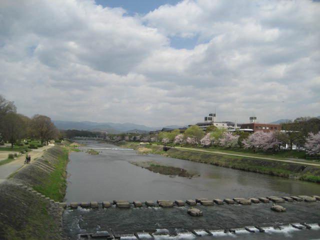 170413鴨川さんぽ①荒神橋から鴨川を望む