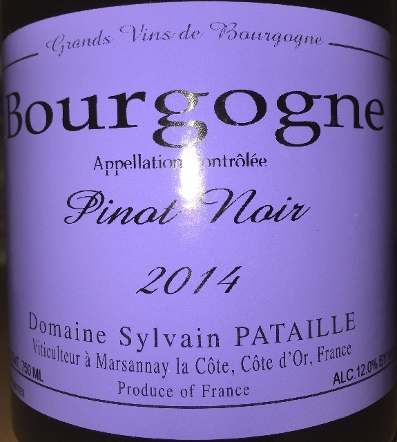 Brougogne Pinot Noir Domaine Sylvain Pataille 2014