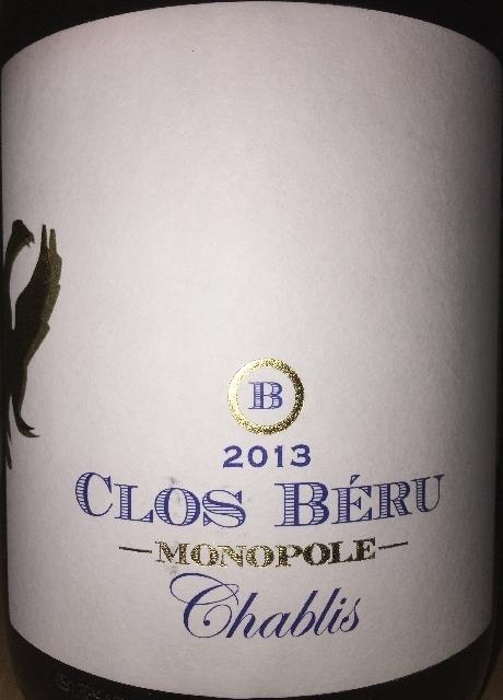 Chablis Chateau de Beru Clos Beru Monopole 2013 part1