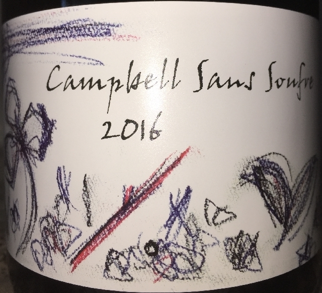 Fujino Winery Campbell Sans Soufre 2016