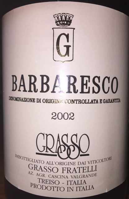 Barbaresco Grasso Fratelli 2002 part1