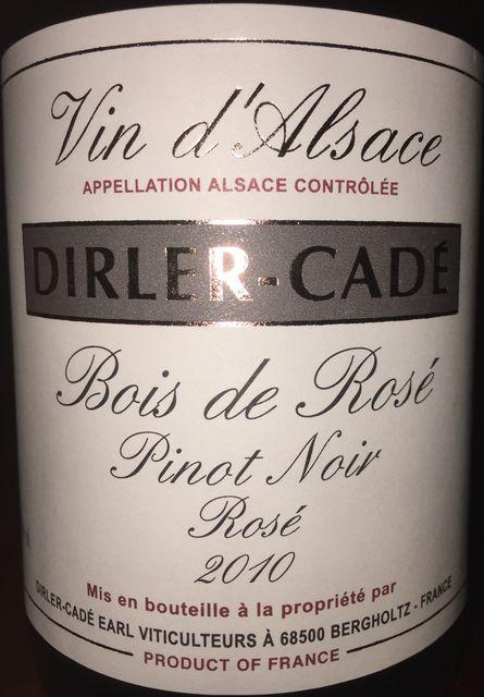Bois de Rose Pinot Noir Dirler Cade 2010 part1