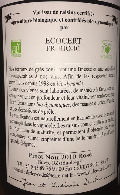 Bois de Rose Pinot Noir Dirler Cade 2010 part2