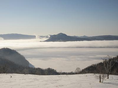 川湯硫黄山2月雲海