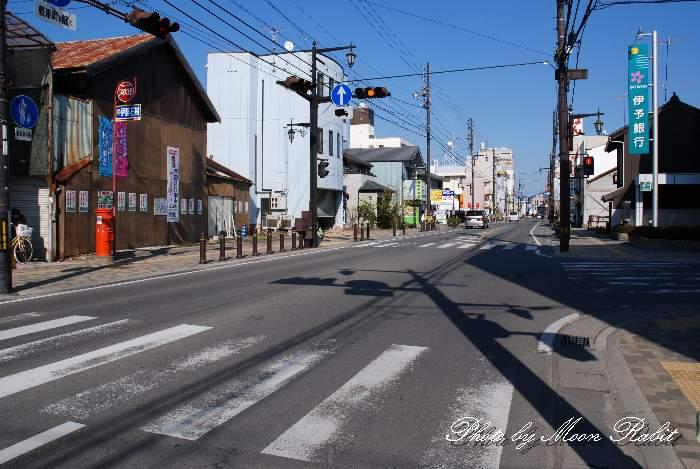 駅西大通り 愛媛県西条市駅西