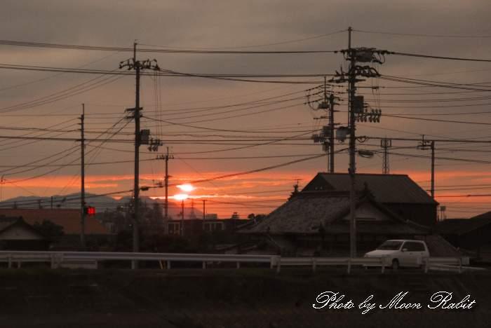 横黒下の日没 愛媛県西条市
