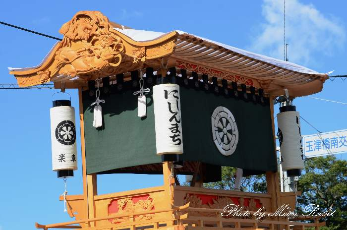 祭り提灯 西新町屋台(だんじり)