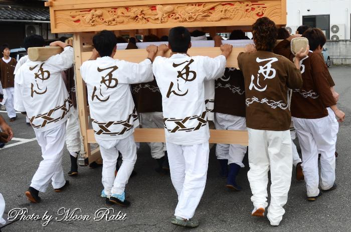 西新町だんじり(屋台) 祭り装束