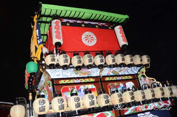 砂盛町屋台(だんじり) 祭り提灯