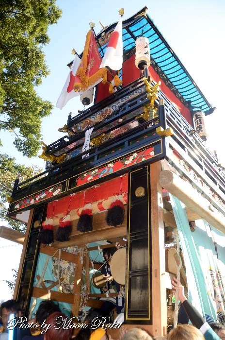上川原屋台(だんじり) ご殿前 西条祭り