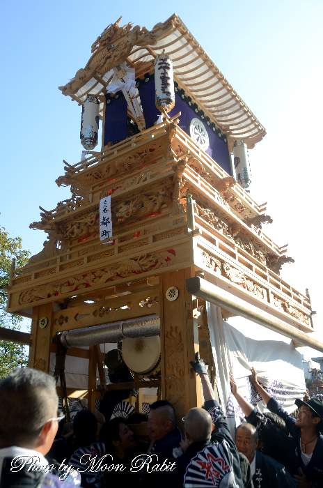 都町屋台(だんじり) ご殿前 西条祭り