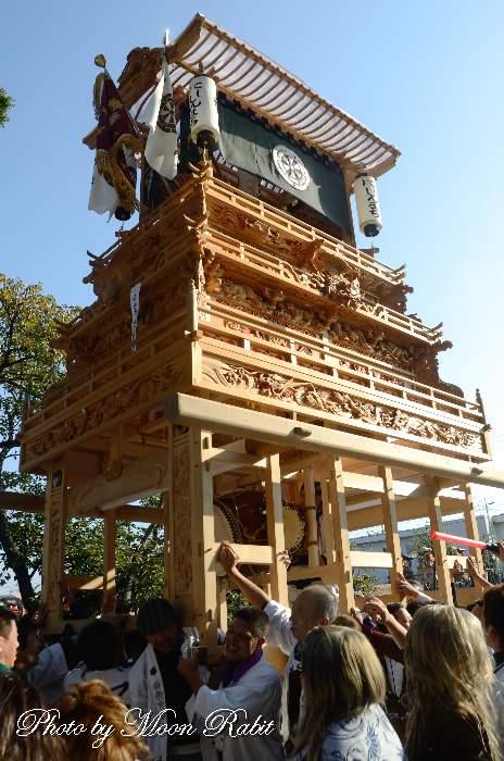 西新町屋台(だんじり) ご殿前 西条祭り
