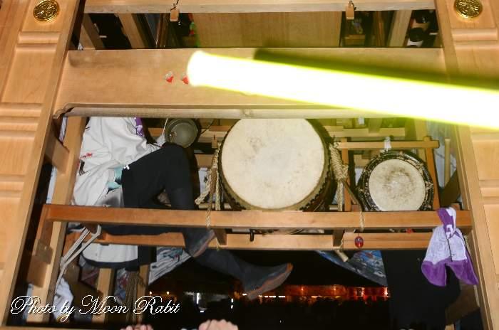 下小川だんじり(屋台) 祭り太鼓