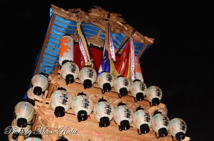 玉津屋台(だんじり) 祭り提灯