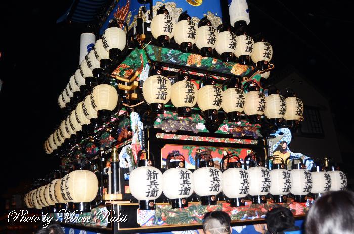 新兵衛屋台(だんじり) 祭り提灯