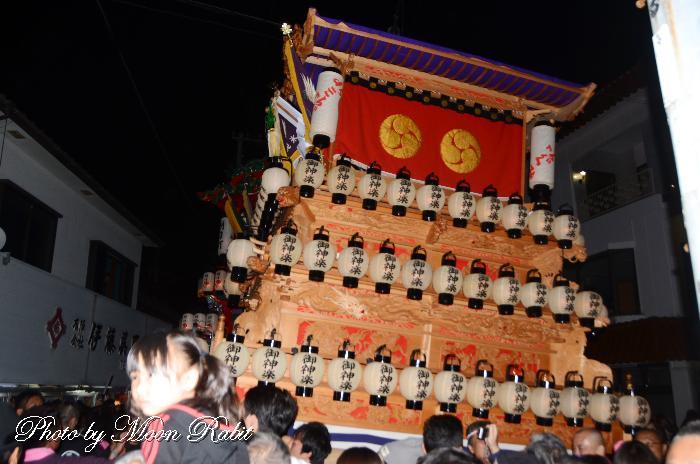 土居屋台(だんじり) 祭り提灯
