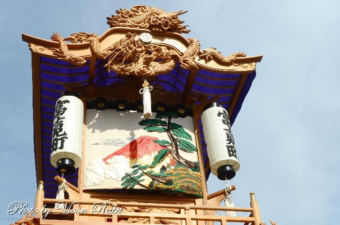見送り 富士見町屋台(だんじり) 水引幕 西条祭り 伊曽乃神社祭礼 愛媛県西条市
