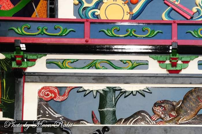 本町屋台(だんじり) 斗栱間(ときょうま)・天井板
