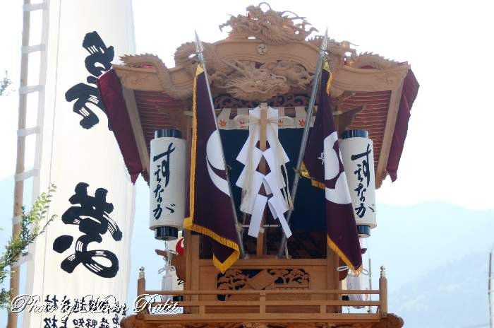 祭り提灯 末長屋台(末長だんじり) 西条祭り 石岡神社祭礼