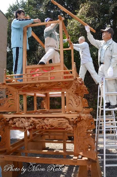 部材と組み立て 上之川屋台(だんじり)