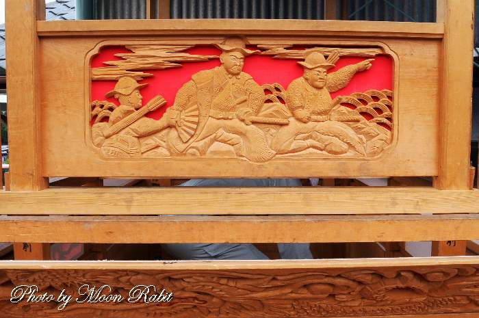胴板彫刻・手摺 北山だんじり(屋台)