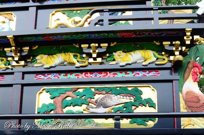 楢之木だんじり(屋台) 斗栱間・天井板