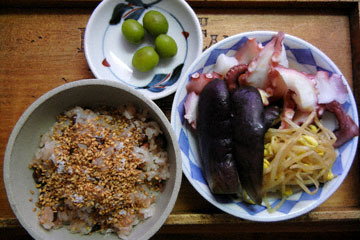 blog Cooking, Lunch, Kuri Okowa, Tako Salad_DSCN3272-10.28.16.jpg