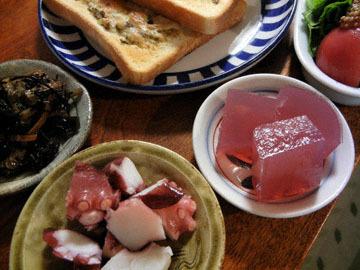 blog Breakfast, Pest & Cheese Toast, Tomato, Yukari Kanten & Tako_DSCN3076-10.2.16.jpg