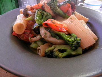 blog Dinner, Ligatoni with Pest Genevese, Mushrooms, Broccoli, Tomato & Tako_DSCN3321-11.8.16.jpg