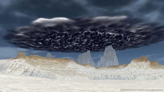 入口から見た乳房雲