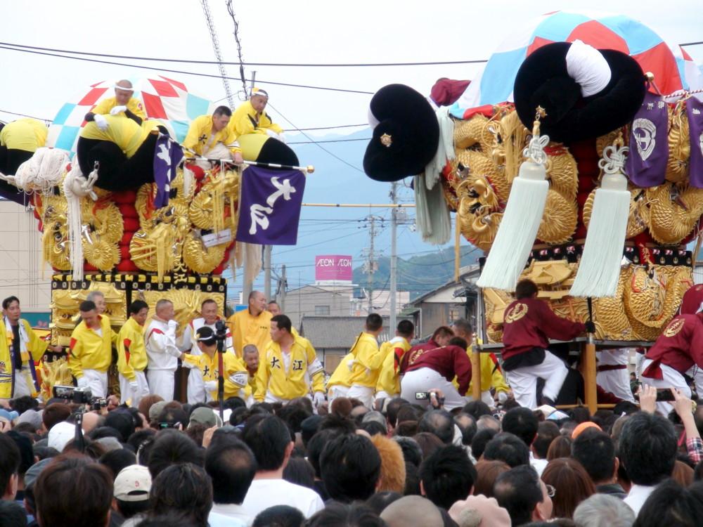 大江太鼓台vs中須賀太鼓台の喧嘩