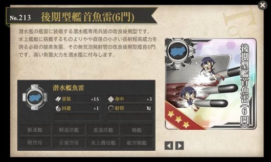 後期型艦首魚雷性能