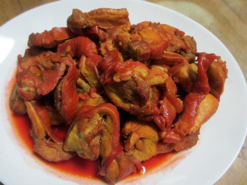 赤ビーツと鶏肉