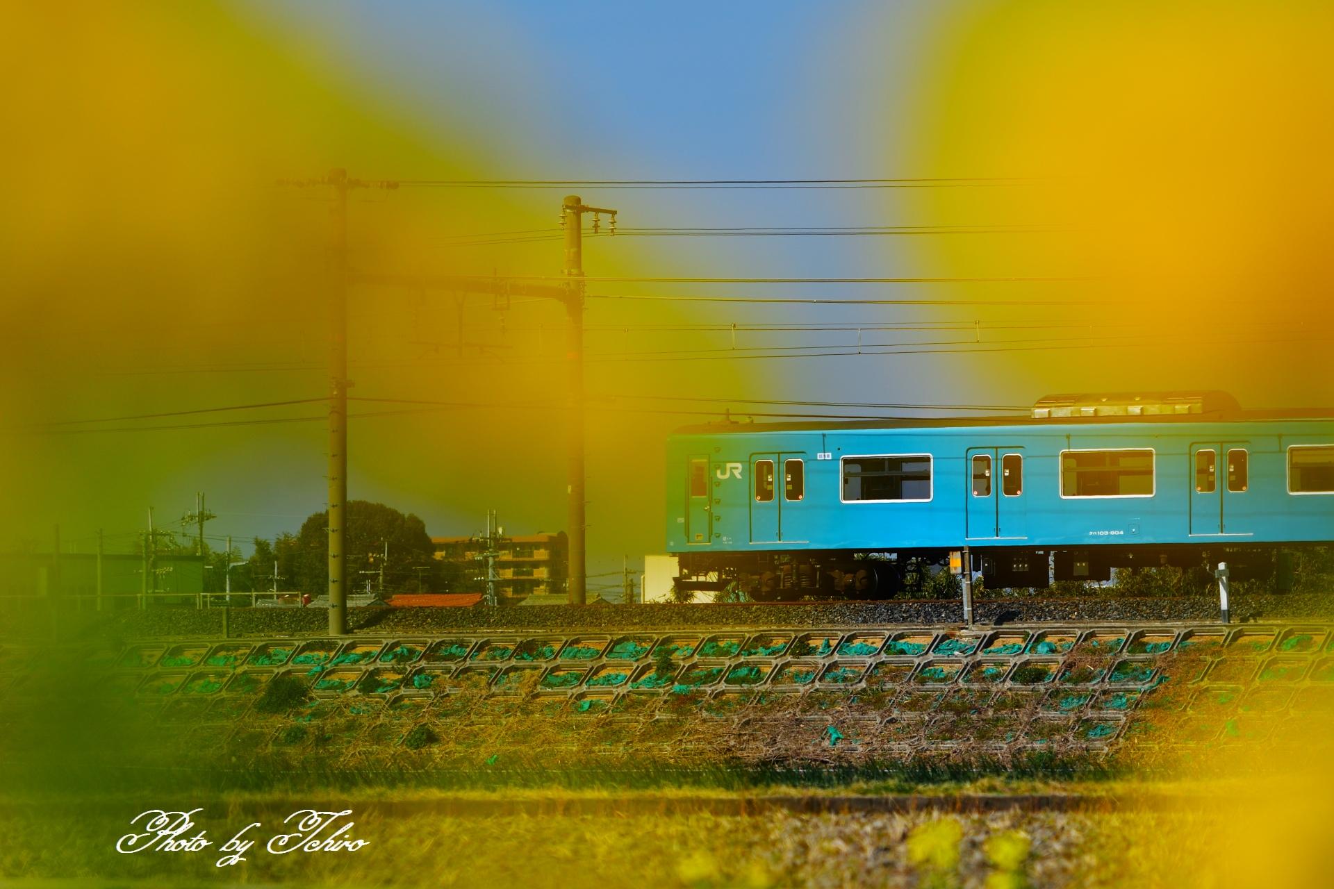去りゆく電車