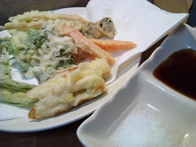 雑草の天ぷら
