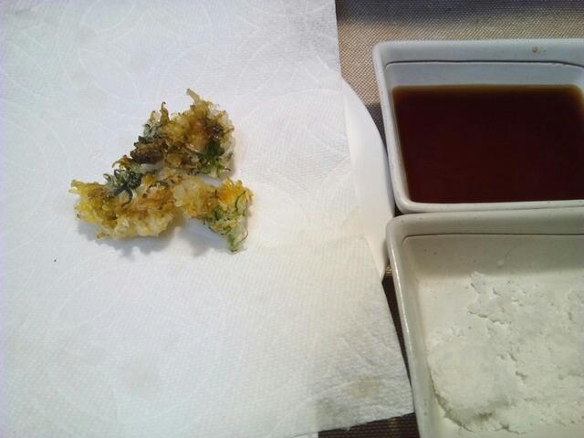 たんぽぽの花の天ぷら