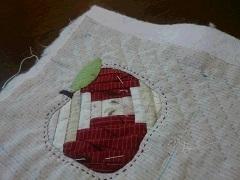 リンゴのポーチ作り&お庭のお花たち