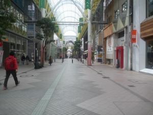 仙台のアーケード街になります。