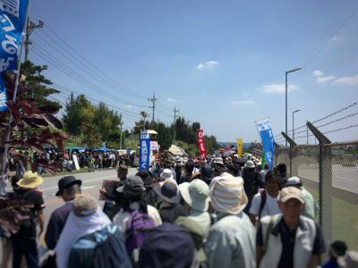 C-i_LQvVwAAODL-辺野古新基地反対ゲート前県民集会