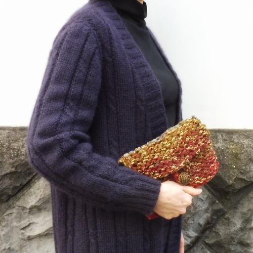 1688モーダーラメロングプリントクラッチバッグ