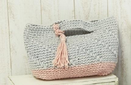 1716コマコマ引き上げ模様のバッグ