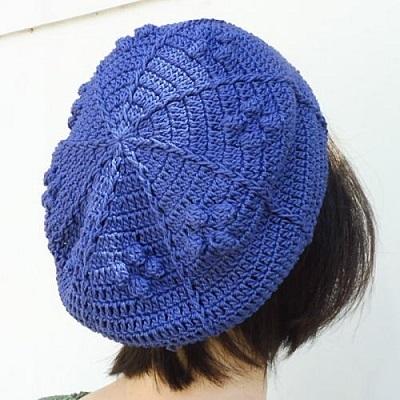 1718ギザパプコーン編みのベレー帽