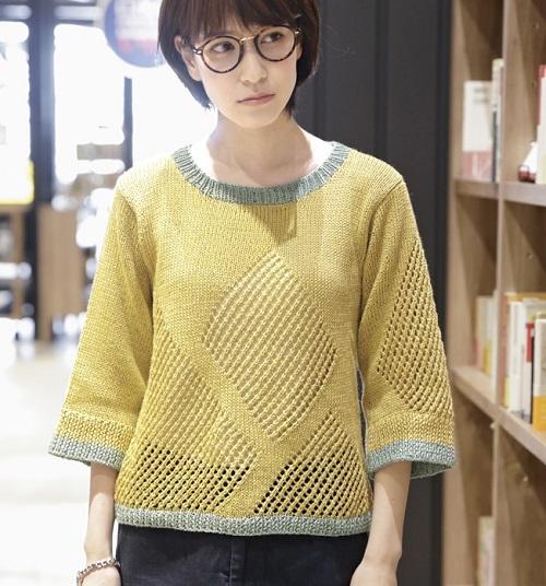 1722ピエロブリーズひし型模様のセーター